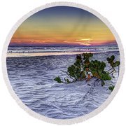 Mangrove On The Beach Round Beach Towel