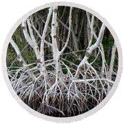 Mangrove Roots Round Beach Towel