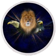 Manifold Presence Round Beach Towel by Tamer and Cindy Elsharouni