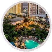 Manila City Round Beach Towel