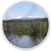 Lake Manitou Sp Woodland Park Co Round Beach Towel