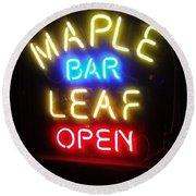 Maple Leaf Bar Round Beach Towel