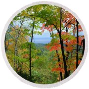 Maples Against Lake Superior - Tettegouche State Park Round Beach Towel