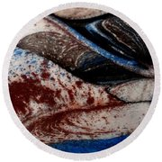 Round Beach Towel featuring the painting Marble 4 by Mike Breau