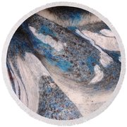 Round Beach Towel featuring the painting Marble 7 by Mike Breau
