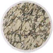 Marble Endpaper Round Beach Towel