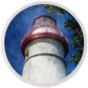 Marblehead Lighthouse 2 Round Beach Towel