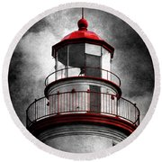 Marblehead Lighthouse - Alternate Reality Round Beach Towel