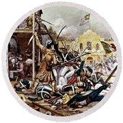March 6 1836 Davy Crockett Fighting Round Beach Towel