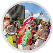Round Beach Towel featuring the photograph Marching Band by Ed Weidman