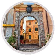 Marciana - Ancient Gate Round Beach Towel