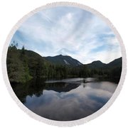Marcy Dam Pond Round Beach Towel