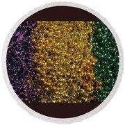 Mardi Gras Beads - New Orleans La Round Beach Towel