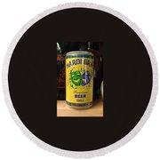 Mardi Gras Beer 1983 Round Beach Towel
