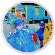 Mardi Gras New Orleans Round Beach Towel