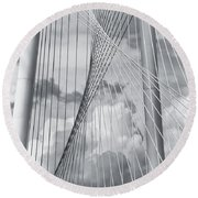 Margaret Hunt Hill Bridge Round Beach Towel