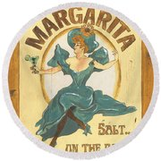 Margarita Salt On The Rocks Round Beach Towel