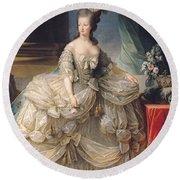 Marie Antoinette Queen Of France Round Beach Towel by Elisabeth Louise Vigee-Lebrun