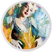 Marilyn Monroe 126 E Round Beach Towel