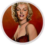 Marilyn Monroe 6 Round Beach Towel