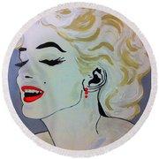 Marilyn Monroe Beautiful Round Beach Towel