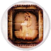 Marilyn Monroe Film Round Beach Towel