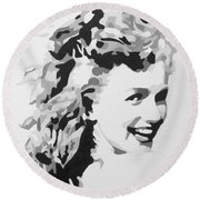 Marilyn Monroe Round Beach Towel by Katharina Filus