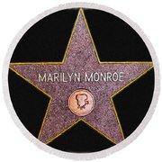 Marilyn Monroe's Star Painting  Round Beach Towel