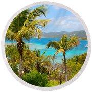 Marina Cay Hill Round Beach Towel