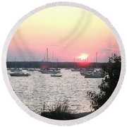 Marion Massachusetts Bay Round Beach Towel by Kathy Barney
