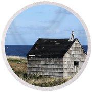 Maritime Cottage Round Beach Towel