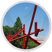 Mark Di Suvero Steel Beam Sculpture Round Beach Towel