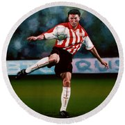 Mark Van Bommel Round Beach Towel by Paul Meijering