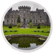 Markree Castle In Ireland's County Sligo Round Beach Towel