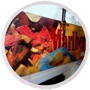 Marlboro Man Round Beach Towel