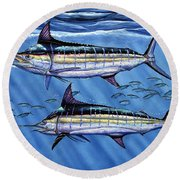Marlins Twins Round Beach Towel