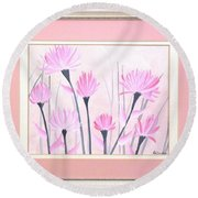 Marsh Flowers Round Beach Towel by Ron Davidson