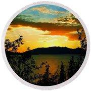 Marsh Lake - Yukon Round Beach Towel