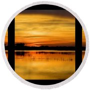 Marsh Rise Tiles 1-3 Round Beach Towel by Bonfire Photography