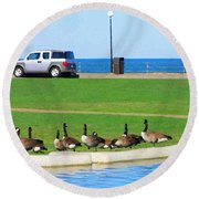 Martha Vineyard Round Beach Towel by Oleg Zavarzin