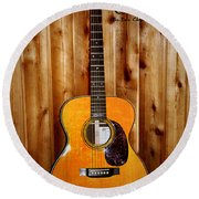 Martin Guitar - The Eric Clapton Limited Edition Round Beach Towel by Bill Cannon