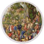 Martyrdom Of The Ten Thousand, 1508 Round Beach Towel