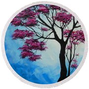 Round Beach Towel featuring the painting Marvelous Light by Dan Whittemore
