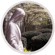 Mary Magdalene Spring  Round Beach Towel