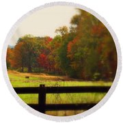 Maryland Countryside Round Beach Towel