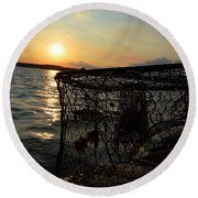 Maryland Crabber's Horizon Round Beach Towel