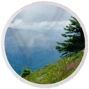 Mary's Peak Viewpoint Round Beach Towel