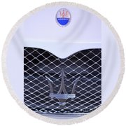 Maserati Emblems Round Beach Towel