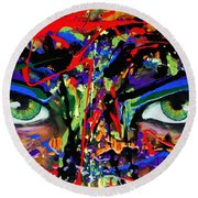 Masque Round Beach Towel