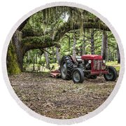 Massey Ferguson - Live Oak Round Beach Towel